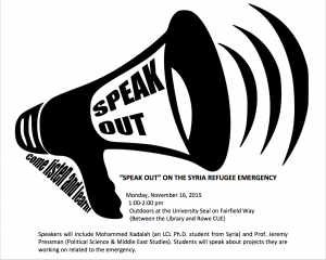Speak Out Syria Refugee