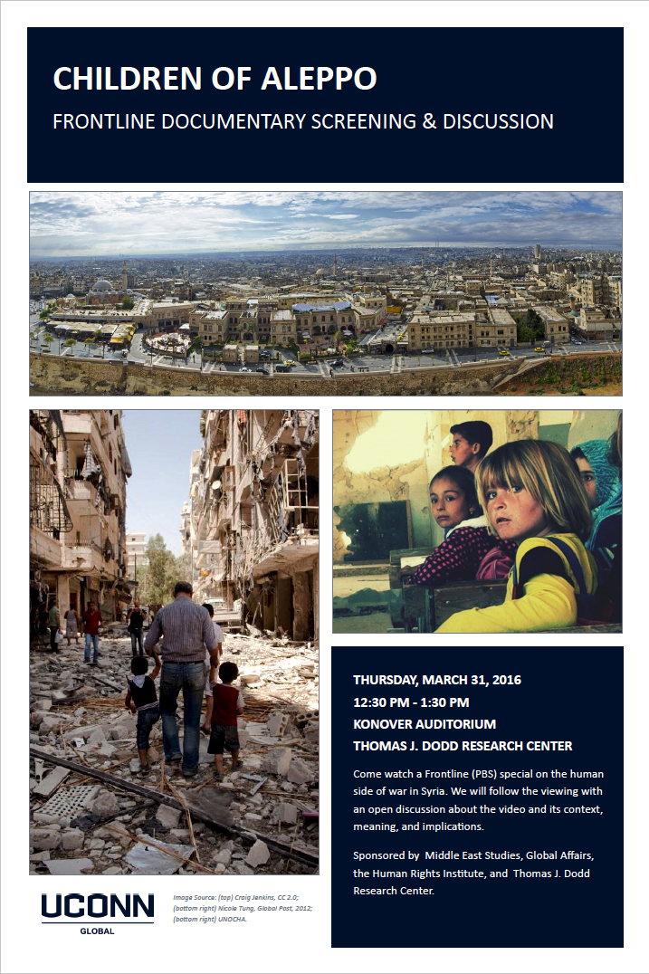 Children of Aleppo talk at UConn